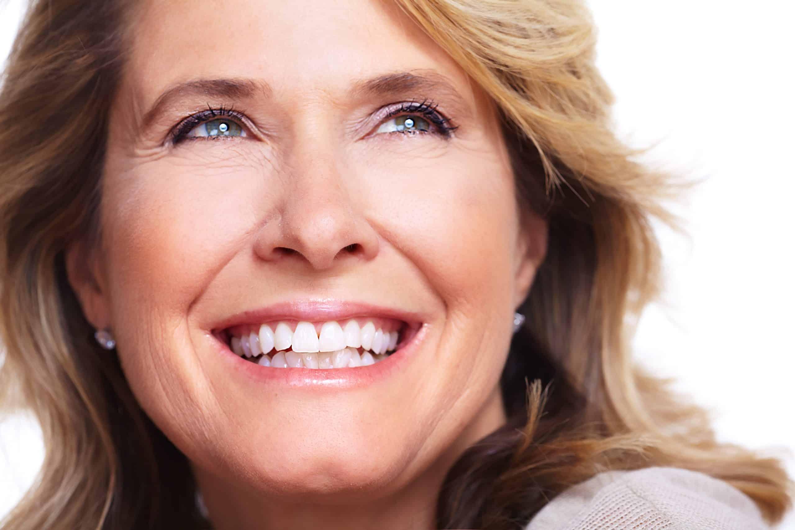beautiful mature aged lady smiling